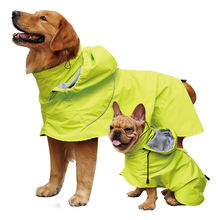 Waterproof Polyester Pet Dog Rain Coat For Large Dogs And Puppies