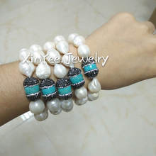XY-CM1325 freshwater pearl bracelet/turquoise pearl bracelet accessories for women