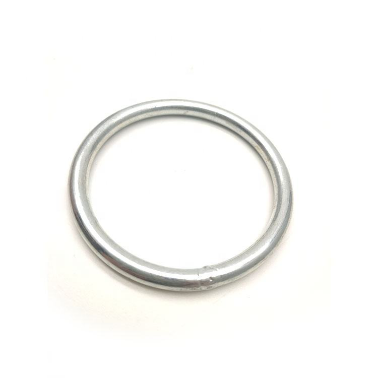 Wholesale 5*50mm welded round ring snap hook cheap stainless steel rings made in china rigging hardware