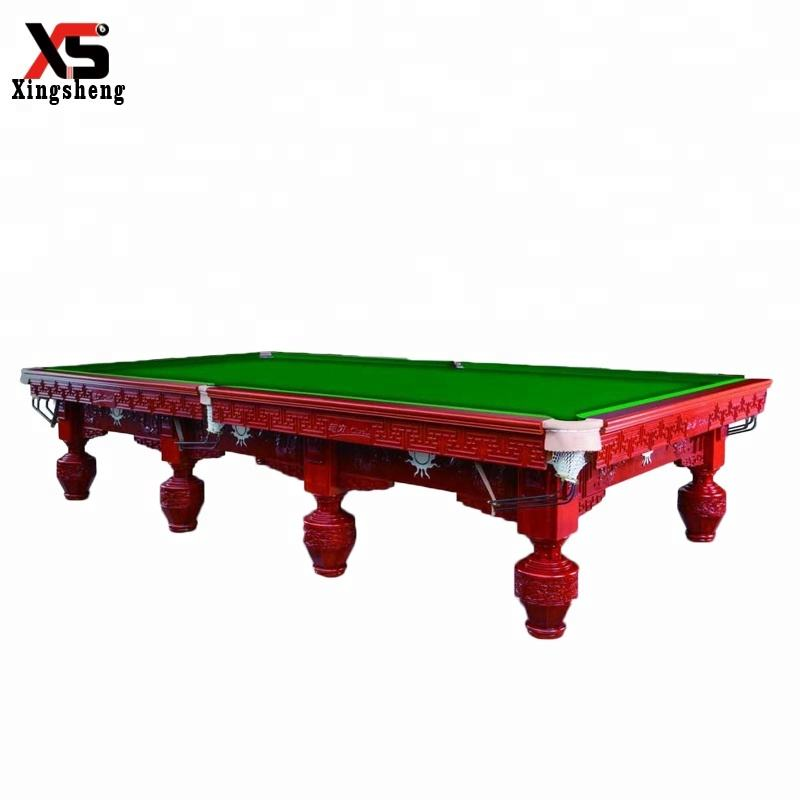 Xingsheng high-end solid wood and slate 12ft snooker pool table