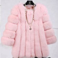 New Fashion Hot Sell Shaggy Faux Fur Coat For Women Autumn&Winter&Spring