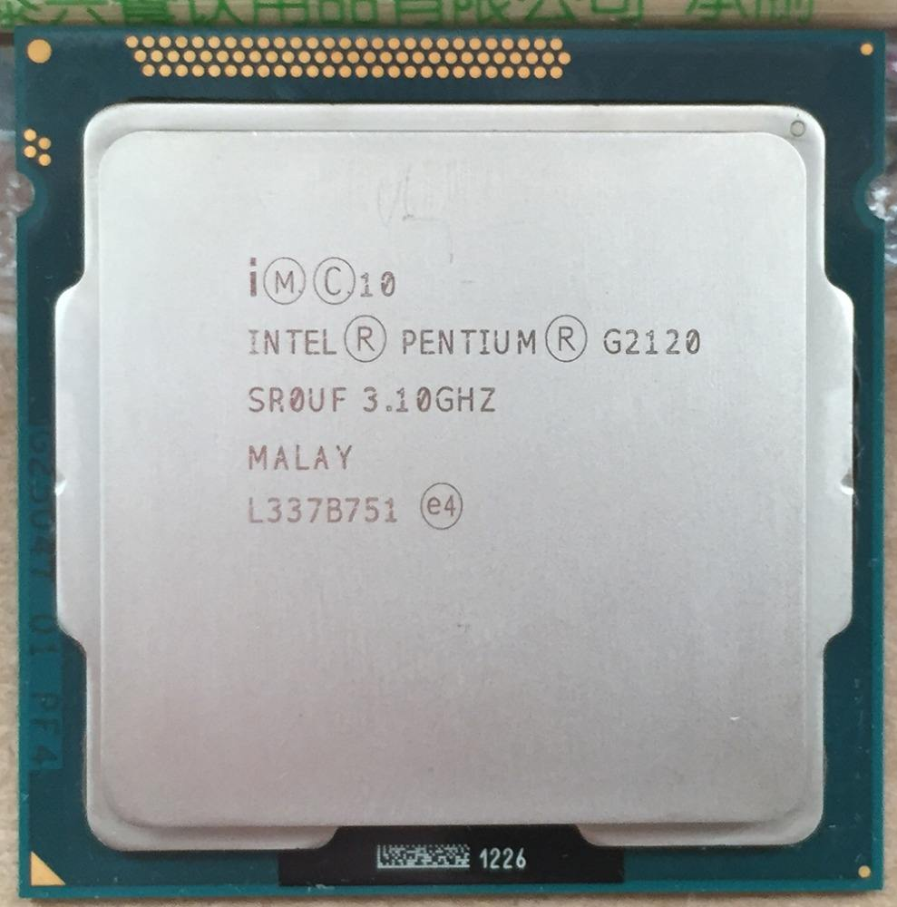Used Pull clean intel cpu G2120 HOT Intel Pentium CPU G2120 SR0UF/3.1G/1155 pin