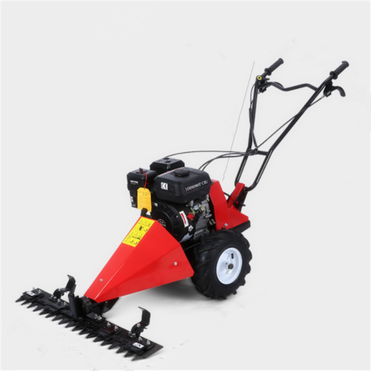 walk behind sickle bar mower/Diesel power scythe mower for garden grass mowing