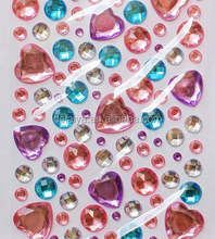 Factory Supply Decorative rhinestone stickers for Scrapbooking Cards Mini Albums