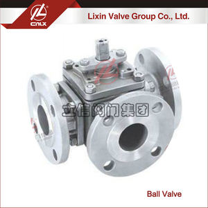 Reasonable price ANSI CF8M 3 way flange ball valve supplier