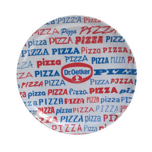big size charger restaurant serving dinner party heat resistance full print melamine pizza plate