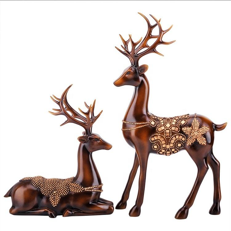 High Quality Wholesale Popular Indoor Gift Decor Animal Resin Statue Deer