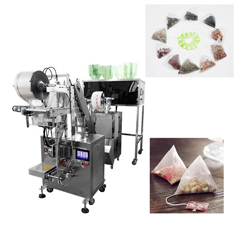Triangle pyramids nylon tea bag packing machine for making inner and outer tea bag with nylon film