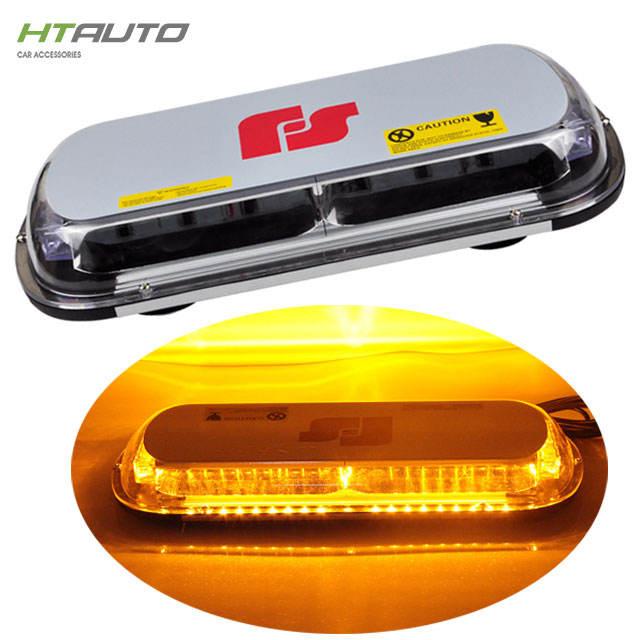 """34/"""" 66W LED Traffic Adviser Emergency Beacon Flash Strobe Light Bar Amber White"""