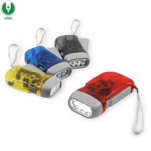 Ecological Torch Portable Dynamo Hand Pressing Flash Light 3 LED Light MOC