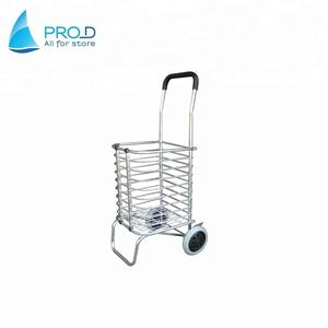 The old shopping aluminium alloy pull rod car folding market shopping cart