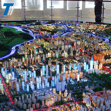 Perfect LED lighting city planning miniature building model , crystal model building