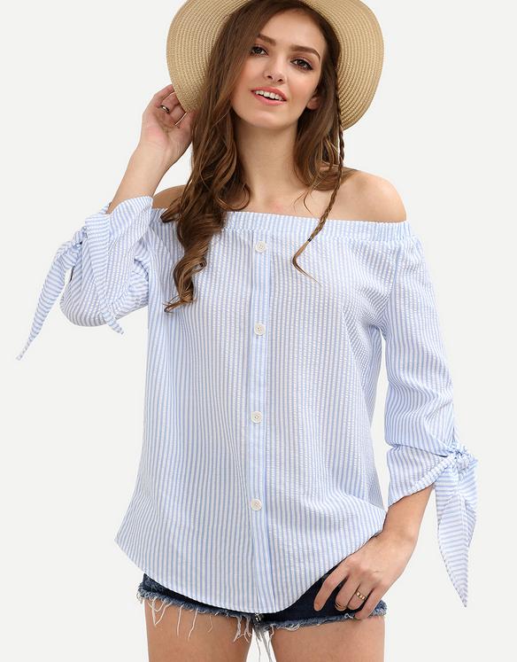 Cari Kualitas Tinggi Musim Semi Baru Desain Normal Blus Produsen