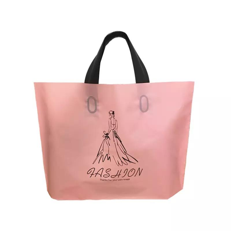 custom poly mailer eco friendly frosted plastic packing bag with soft handle for dance shoes/gift