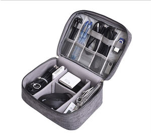 Double Layers Travel Data cable Organizer Electronics Accessories Carry Bag Oxford Digital Storage Bags