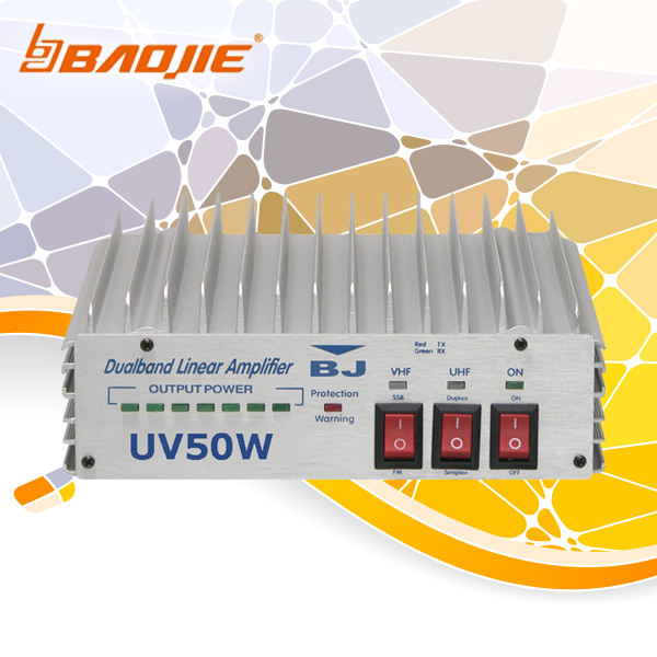 BAOJIE BJ-UV50W, VHF UHF Penguat Linear Dua Band