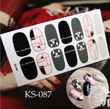 New Arrival for 2018  waterproof lasting Fashion KS nail sticker LV cc