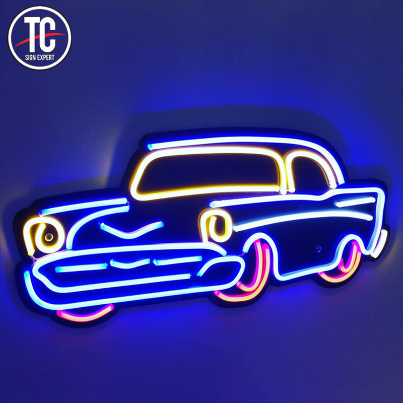 Fasty delivery cheap car neon outdoor led flexible car neon lighted sign