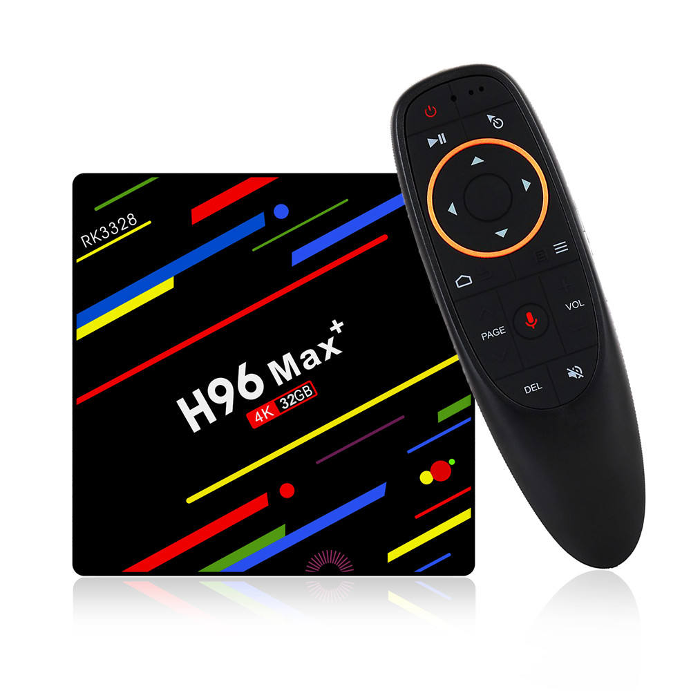 Newest H96 Max Plus tv box 4GB DDR3 32GB 64GB eMMC RK3328 android 8.1 set top box H96 max plus tv box