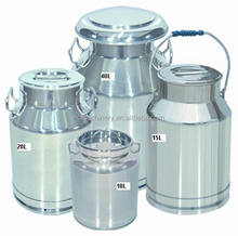 High quality mirror polished food sanitary stainless steel milk can