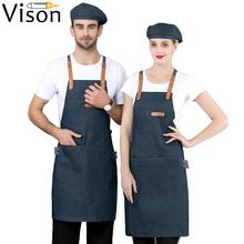 cotton  customized  cheap  delantales  wholesale  cartoon  cute  beauty  blue grey denim kitchen  apron
