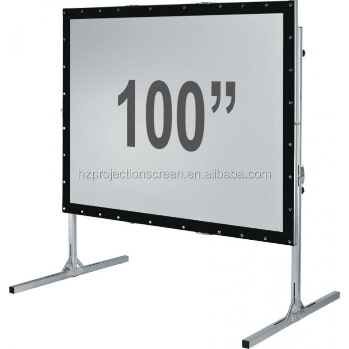 black projection screen fabric front and rear projection optional 16:9