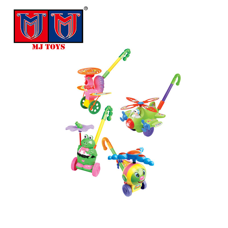 cheap price fun chicken free wheel plastic hand trolley toys for kids