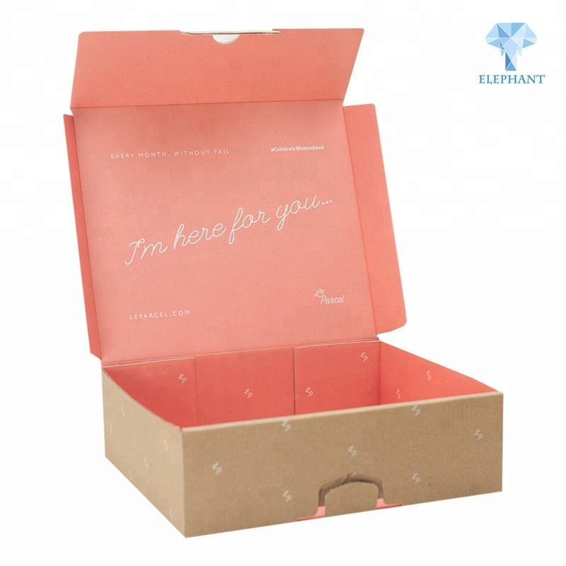 Custom attractive price hot sale portable corrugated clothing mailer box