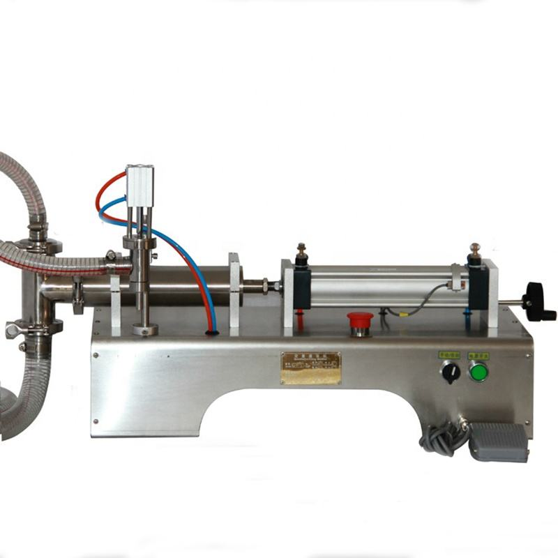 one filling Heads Liquid Pneumatic Semi Automatic Softdrink Soap Filling Machine Flowing Liquid Filler