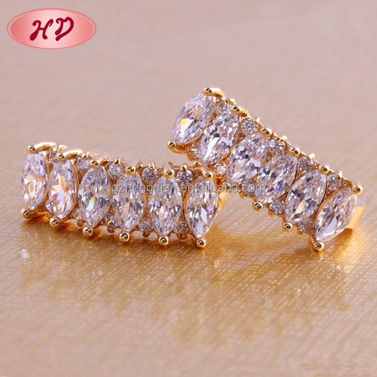 18k 14k gold plated wholesale fancy small gold earrings woman 2015 /ladies earrings designs pictures designs for party girls