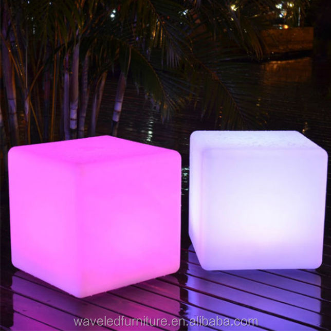 Waterproof led cubes chair 16 colors changing with remote controller