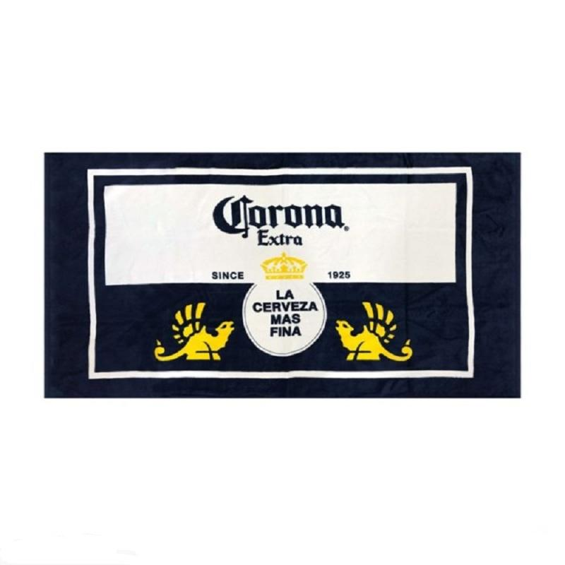 Reactive Screen Full Color Printed Cotton Velour Corona Beach Towel