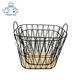 Wholesale china trade decorative laundry metal wire material storage basket