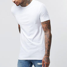 Best Selling Slim Fit Plain White t-shirts Designer Western Tops Images Men plain white t-shirts custom