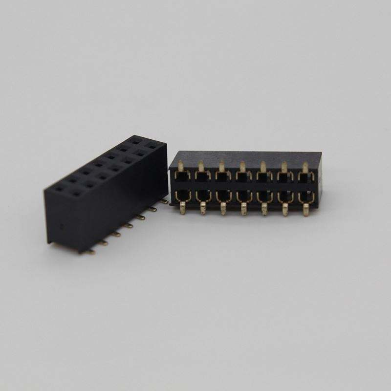 심천 Factory 암 6 Pin Header Smd Right Angle 커넥터