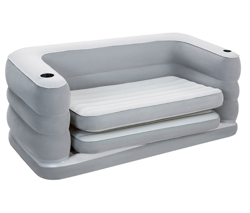 With Free Sample [ Sofa ] Bestway Air Sofa 75063 79'' X 63'' X 25'' Inflatable Sofa Bed Air Lounge