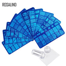 Rosalind wholesale stainless steel metal nail art stamp plates template tools gel polish nail stamping plate for nails salon