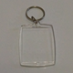 Blank Plastic Acrylic Photo Frame Key Chain (inner size 35*45mm rectangle shape) can DIY insert photo