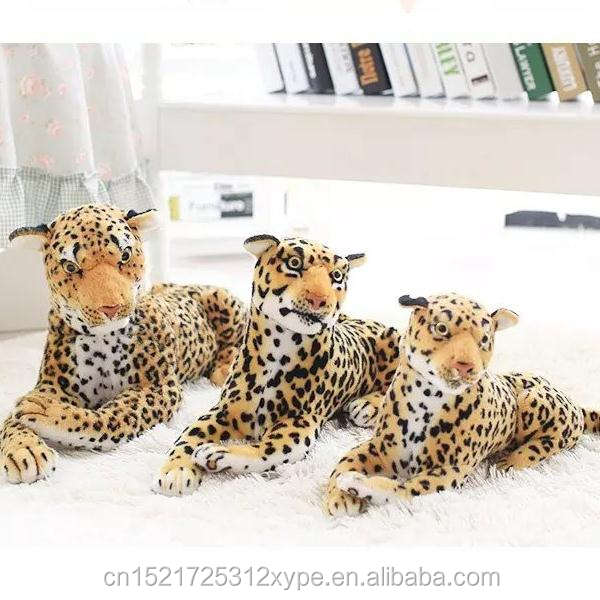 Customizable realistic wildlife animal big size clouded leopard plush toy