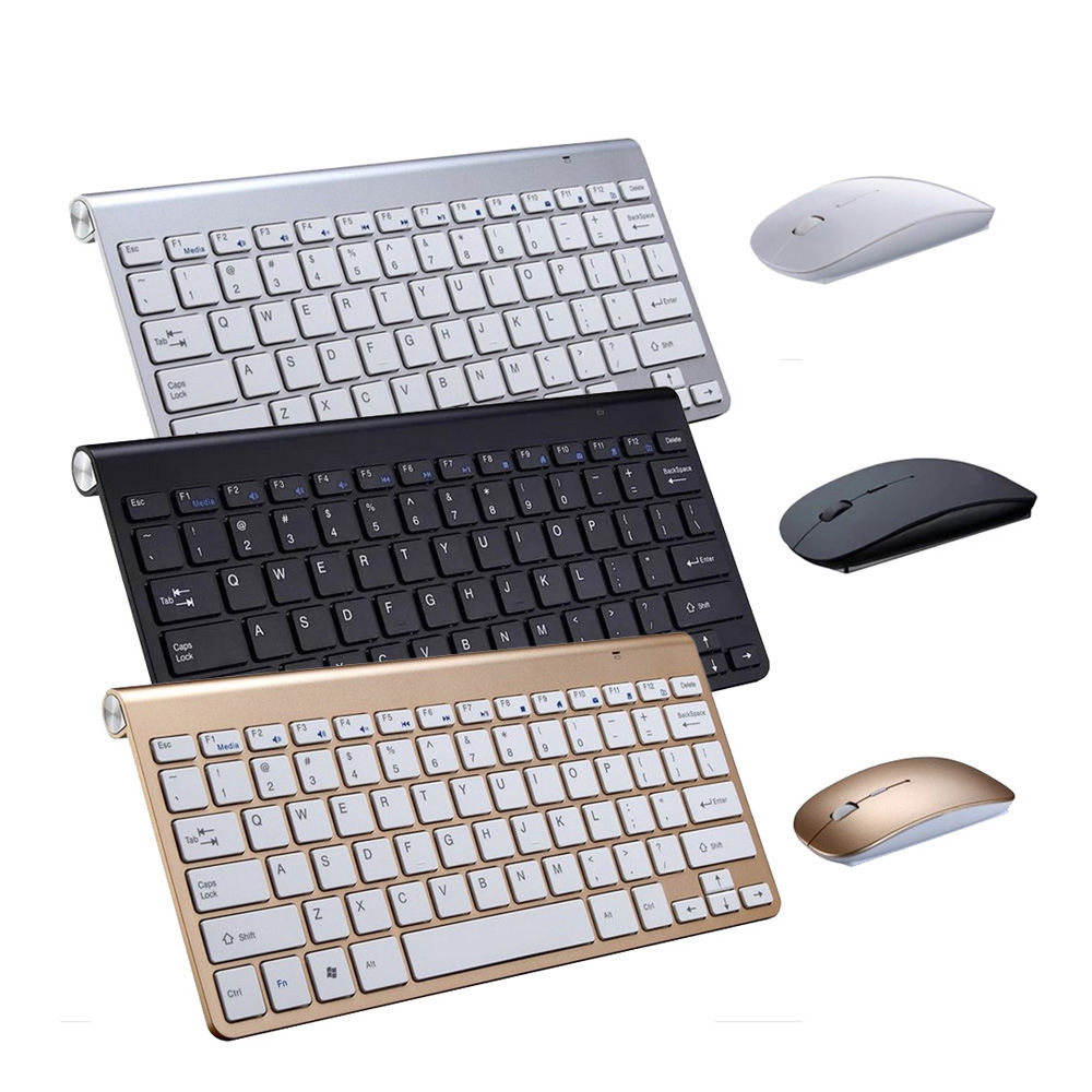 <span class=keywords><strong>Keyboard</strong></span> dan Mouse Nirkabel Portabel 2.4G, Kombo untuk Apple Ipad Tablet Android