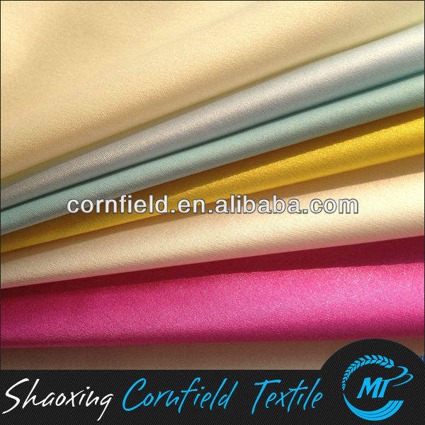 100% polyester fabric wholesale semi dull satin for oeko-tex garments