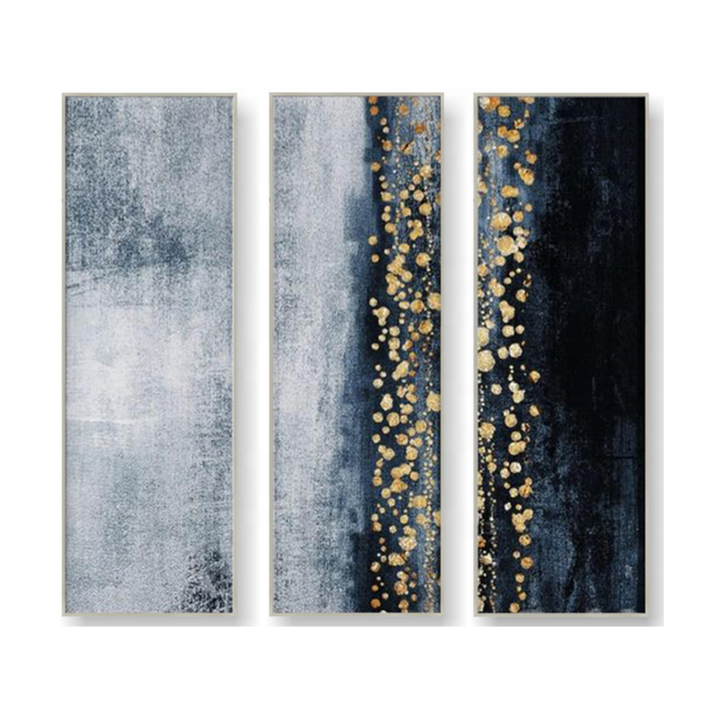 Modern Wall Art Handmade Abstract Gold Foil Oil Painting on Canvas