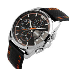 skmei 9106 water resistant quartz watch with stainless steel back watches men