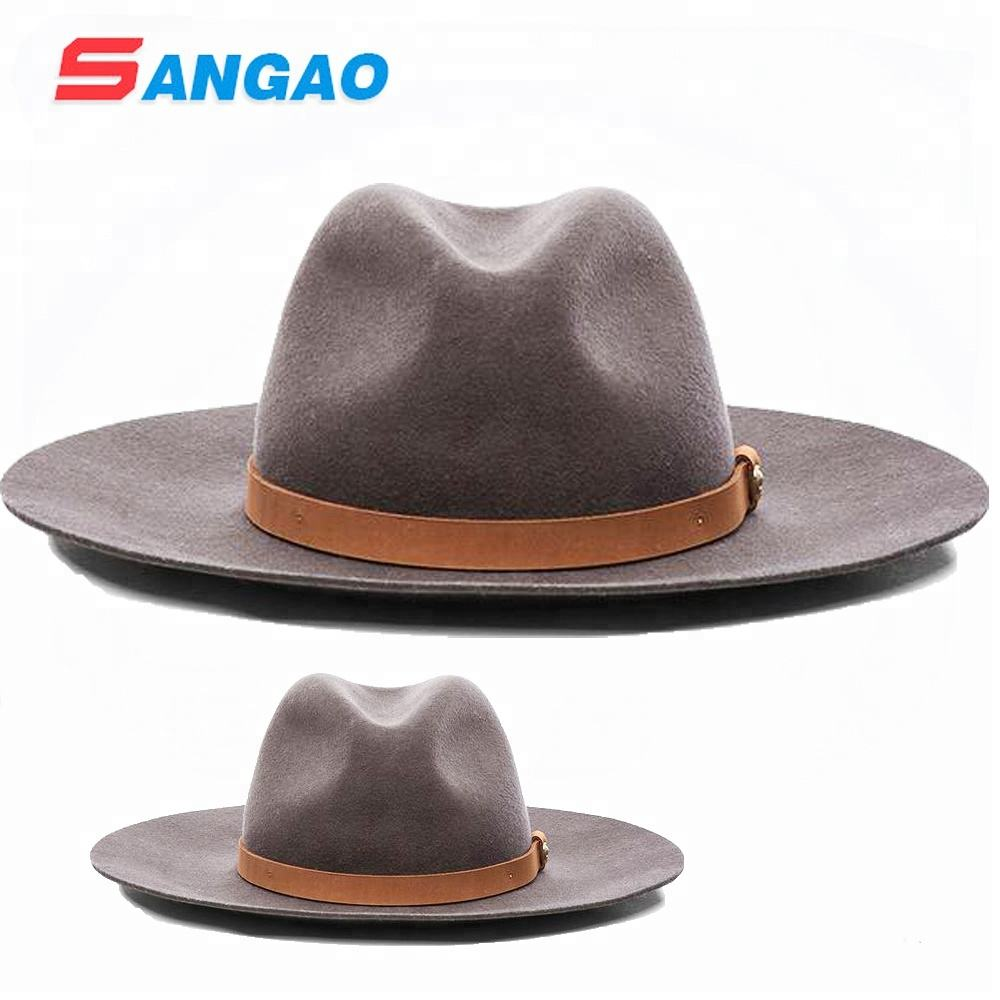 Wholesale perfect new style wool canvas fedora hats man cheap