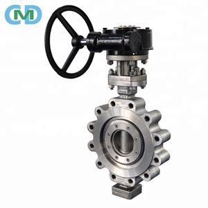 Stainless Steel Double Eccentric PN25 Lug Butterfly valve with Worm Gear