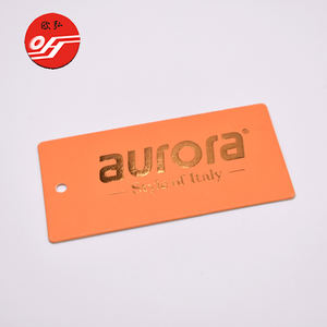 Fashion Product Print Gold Foil Stamping Die Cut Hang Tag for Garment