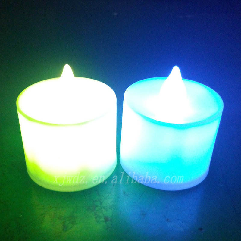 Valentine's Day atmosphere to create props Electronic candle lamp colorful lights flashed