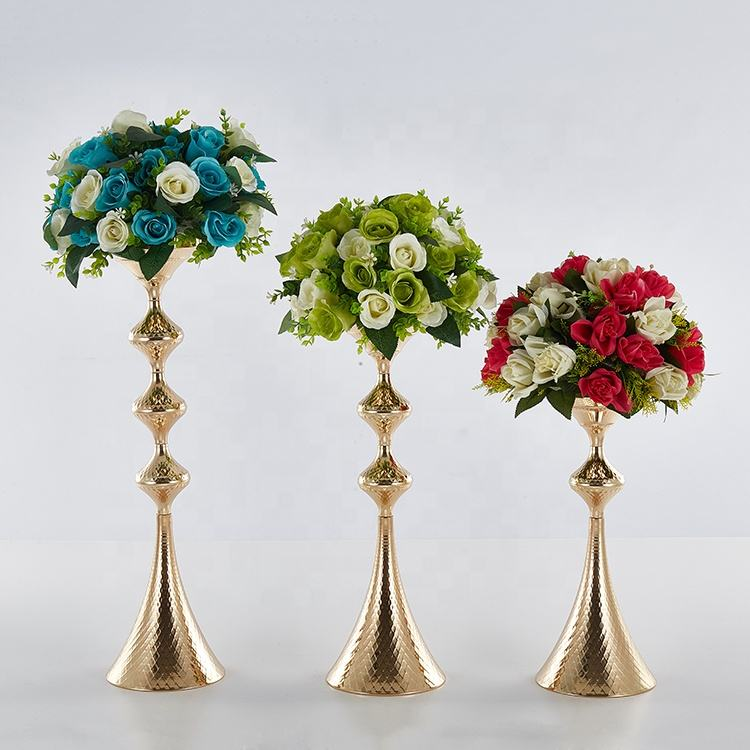Successively high flower vase wedding decoration