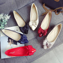China Factory Cheap Price Low MOQ Custom Slip-On Comfort Bowknot Ladies Flats Casual Shoes Wholesale OEM Women Flat Shoes