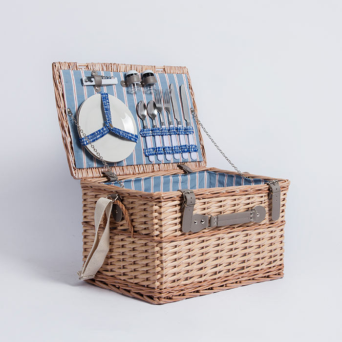 Decorative basket europe style wicker 4 person picnic basket